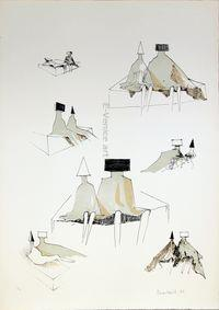 LynnCHADWICK, Sketches for sitting couples