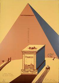 EduardoARROYO, W. Churchill, Napoleone e Saul Steinberg all'ombra delle Piramidi a mezzogiorno