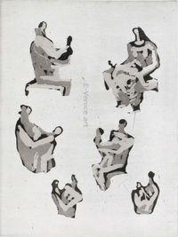 HenryMOORE, Six mother and child studies