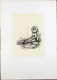 litografia originale firmata. - tiratura: 40 + 5 p.a. - su Carta a mano Magnani di Pescia con filigrana del Bisonte 65x46 cm. -  riferimenti: Catalogo il Bisonte 1983 N 175