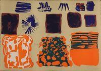 litografia originale firmata. - tiratura: 60 + 5 p.a. - su Carta a mano Magnani di Pescia 46 x 65 cm. -  riferimenti: Catalogo il Bisonte 1983 n.180. - stampatore:   IL BISONTE Firenze
