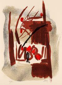 litografia originale firmata. - tiratura: 90+ X hc. - su Carta a mano Magnani di Pescia 70x50 cm. -  riferimenti:   Catalogo il Bisonte 1983 n.89. - stampatore:   IL BISONTE Firenze