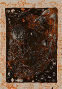 litografia originale firmata. - tiratura: 20 . - su Carta cotone Magnani di Pescia 65x46 cm. -  riferimenti:   Catalogo il Bisonte Firenze 1983 n.117
