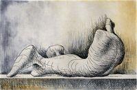 HenryMOORE, Reclining Figure - Right