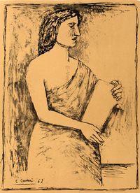 litografia originale firmata. - tiratura: 125. - su Carta cotone Magnani di Pescia 65x46 cm. -  riferimenti:   Catalogo il Bisonte 1983 n. 154. -
