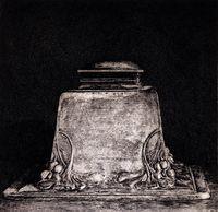 acquaforte originale firmata. - tiratura: 90 + XX hc. - su Carta a mano Magnani di Pescia con filigrana del Bisonte 34,5 x 35 cm. - (lastra 23,5 x 24 cm). -  riferimenti: catalogo Bisonte n 121