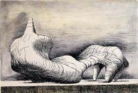 HenryMOORE, Reclining Figure - left