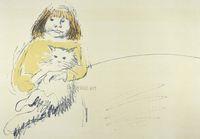CarloMATTIOLI, Anna con il gatto