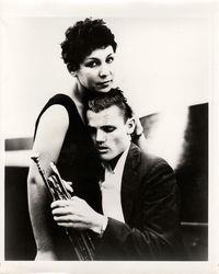 fotografia originale di scena dal film Let's get lost . -  riferimenti: Timbro copyright e anno 1987 del fotografo al verso
