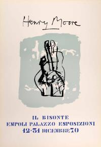 Henry MOORE, Exhibition poster for Empoli City