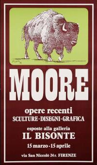 Henry MOORE, Exhibition poster for Bisonte Gallery