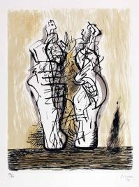 Henry MOORE, two woman