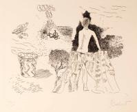 acquaforte originale firmata. - tiratura: 100 . - su carta Rosaspina Fabriano 34,5 x 49,5 cm. - (lastra 23,5 x 31,5 cm). -  riferimenti:  Centro Internazionale della Grafica di Venezia, vedi timbro a secco in basso a destra