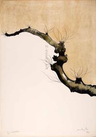 CarloMATTIOLI, Gli alberi III (dalla cartella acquarellata)