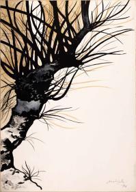 CarloMATTIOLI, Gli alberi V (dalla cartella acquarellata)