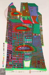 Friedensreich HUNDERTWASSER, Good Morning City--Bleeding Town