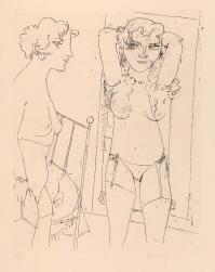 AlbertoMANFREDI, Due modelle in piedi