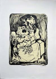 Domenico CANTATORE, Donna con gallo
