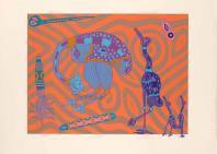 serigrafia originale numerata titolata datata e firmata. - tiratura: 99. - su carta Fabriano 50 x 70 cm