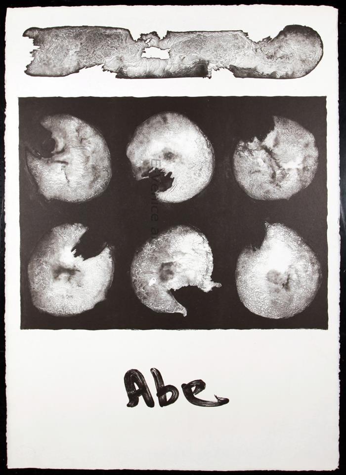 """Frontespizio """"6 litografie di Abe"""""""