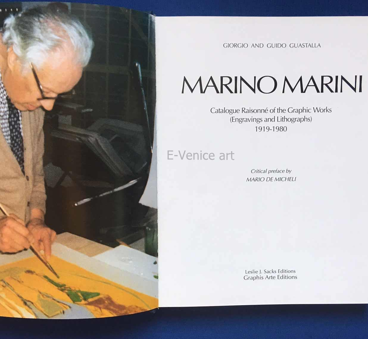 Marino Marini: Catalogue Raisonné of the Graphic Works, 1919-1980. (Catalogue Raisonné)
